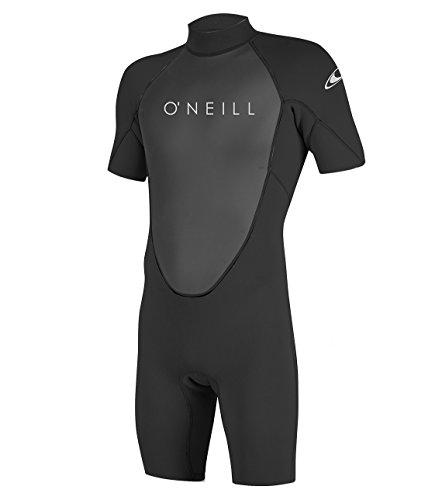 O'Neill Wetsuits Reactor-2 2mm Back Zip Spring, Muta Subacquea Uomo, Nero/Nero, M