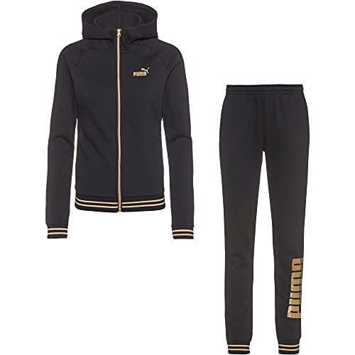 PUMA Gold Metallic Suit Tuta, Nero, XL Unisex-Adulto