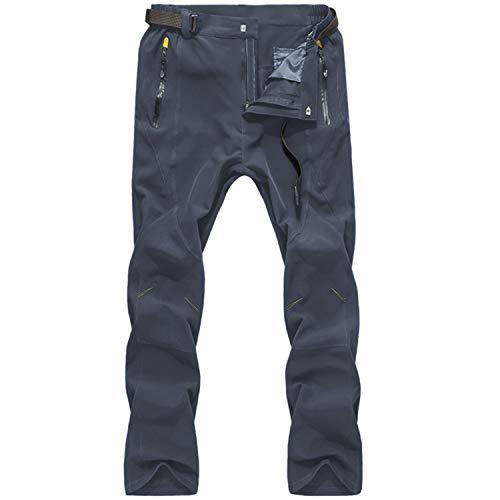LY4U Pantaloni da Trekking ad Asciugatura Rapida da Uomo Pantaloni da Passeggio idrorepellenti Traspiranti da Uomo con Cintura