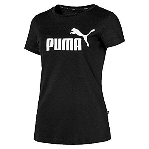 PUMA Essentials D, Maglietta Donna, Nero (Cotton Black), S