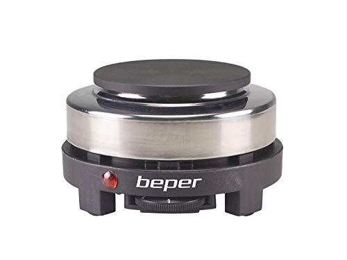 BEPER P101PIA002 fornello Elettrico, 500 W, Acciao Inossidabile/Ghisa, Nero/Grigio
