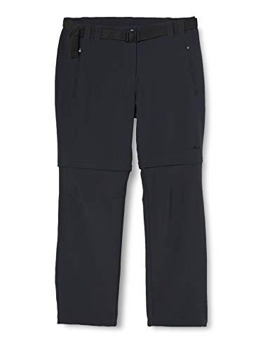 CMP Zip-off 3T51446, Pantaloni Donna, Grigio (Antracite), M