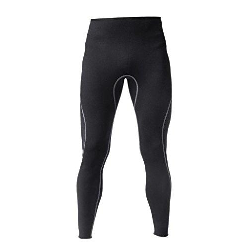 IPOTCH Pantaloni per Muta da Uomo Neoprene Warm Kayak Scuba Surf Pantaloni da Sub S-XL - Nero, XL