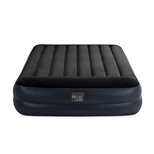 Intex 64122 Materasso Classic Singolo Comfort Dura Beam Rialzato, Blu, con Pompa Interna, 99 x 191 x 42 cm