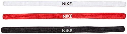 Nike Fascia per capelli-9318-4, Capelli Uomo, Black/White/University Red, One Size