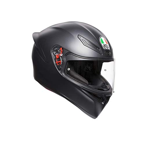 AGV K1 Mono ECE2223 0281A4I0_003_ML Casco Moto, Nero Opaco, ML