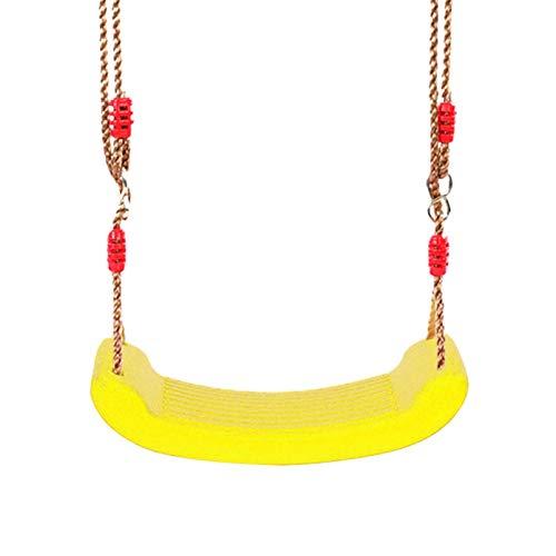 MVPACKEEY - Seggiolino a dondolo con corda, resistente, regolabile, accessori per altalena, in plastica, per bambini, per giocare all'aperto