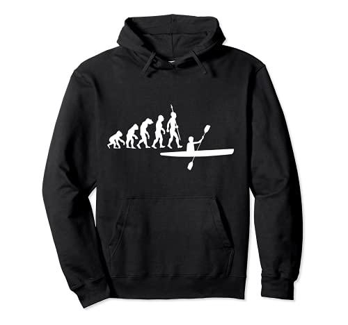 Evoluzione canoa canoista kayak canottaggio sport acquatici Felpa con Cappuccio