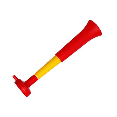 FUN FAN LINE - Confezione x3 trombe Vuvuzela in plastica. Accessori per Il Calcio e Le celebrazioni Sportive. Rumorosa Tromba d'Aria per l'animazione. (Spagna)