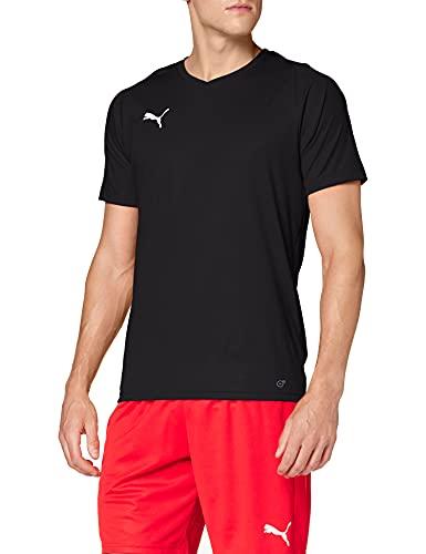 Puma Liga Jersey Core, Maglia Calcio Uomo, Nero Black White, L