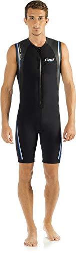 Cressi Termico Man Wetsuit 2 mm, Muta Shorty in Neoprene High Stretch Uomo, Nero/Blu, XL/5
