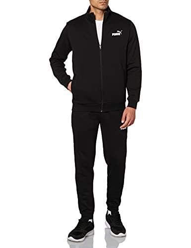 Puma 4063697380325 Clean Sweat Suit FL Tuta Sportiva, Puma Black, L