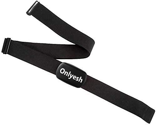 Onlyesh Fascia Cardio con Fascia Toracica Cinture di Seno Bluetooth e Ant+ Compatibile per Garmin e Sunnto
