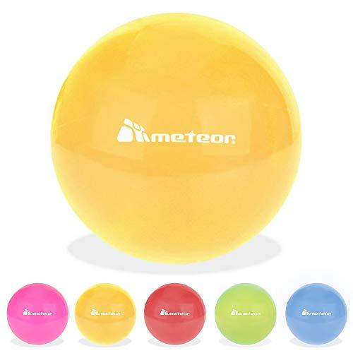 meteor Palla Gomma 20 cm - per Bambini e Adulti - per Divertimento o Esercizio - Piccola Palla Ginnastica Pilates Fitness Esercizio Fisioterapia (20 cm, Orange)