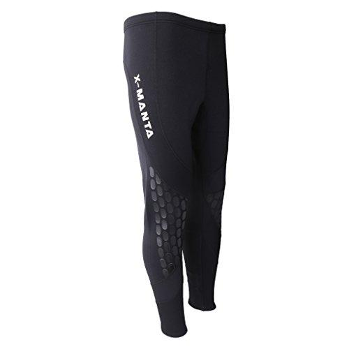 Uomo Muta Pantaloni da Immersioni in Neoprene 1.5mm Abbigliamento Sportivo Acquatici per Nuoto, Snorkeling, Kayak, Canoa - XL