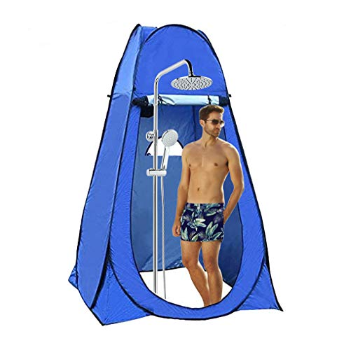 Tenda Toilette Privacy, Parkarma Tenda Cabina da Toilette da Campeggio Tenda da Doccia Portatile per La Privacy per Camp sulla Spiaggia, All'aperto Pesca o Campeggio in Auto 150 * 150 * 190 cm (Blu)