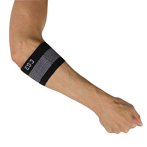 Orthosleeve tutore epicondilite gomito ortopedico a compressione graduata ES3 - Tutore gomito del tennista - Fascia gomito per alleviare il dolore all'avambraccio e il gonfiore (taglia XL)