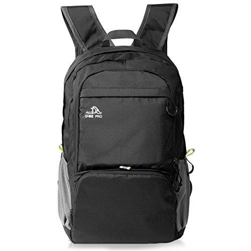 Cobiz Ultralight Packable Camping Zaino Escursionismo Daypack, 30L Pack Handy Pieghevole Laptop Travel Outdoor Zaino per Donna Uomo Bambini (A-Nero)