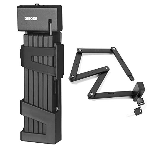 DINOKA Lucchetto Bici ,lucchetto per bicicletta pieghevole portatile lungo 100 cm Altamente sicuro e durevole per bicicletta, moto e porta