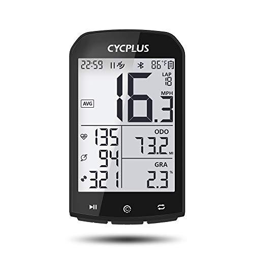 CYCPLUS Tachimetro e contachilometri per Bici da Bicicletta GPS Impermeabile Contachilometri Ant + Wireless Ciclismo Bluetooth Compatibile con App Display LCD da 2,9 Pollici con retroilluminazione
