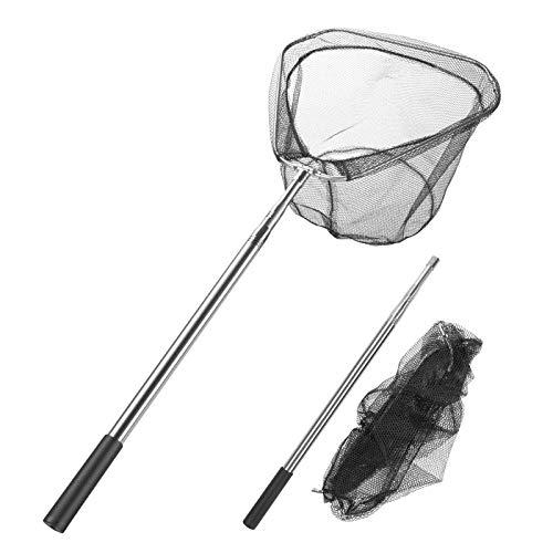 Homealexa Guadino da Pesca Pieghevole Retino da Pesca con 180cm Manico Telescopico in Lega di Alluminio Rete Riutilizzabile da Pesca All'aperto, Pesca Trota Stagni Carpa Acquario Accessori da Pesca