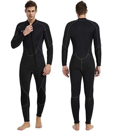 IFLOVE Uomo Monopiece Muta 3 mm Wetsuit Monopezzo Neoprene Ultrastretch Maniche Lunghe Man Surf Nuoto Snorkeling XL