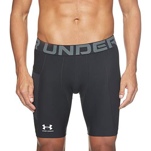 Under Armour UA HG Armour Shorts, pantaloncini corti Uomo, Black / White , L