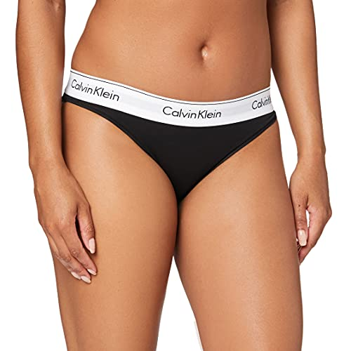 Calvin Klein Modern Cotton-Bikini Slip, Nero (Black 001), S Donna