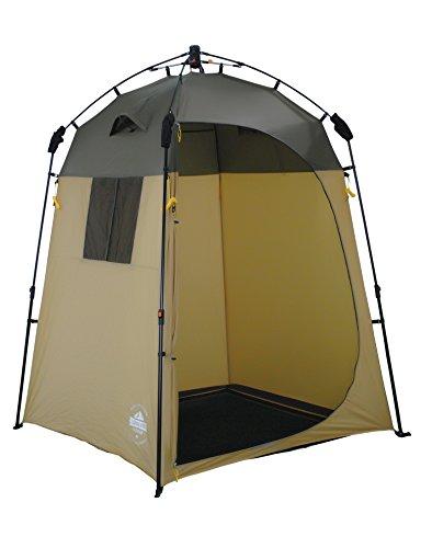 Lumaland Tenda Doccia e Cabina spogliatoio Sistema QuickUp di Montaggio Marrone
