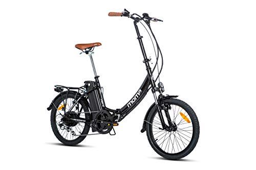 Moma bikes ebike 20.2, Bicicletta Elettrica Pieghevole Unisex Adulto, Nero, Unic Size