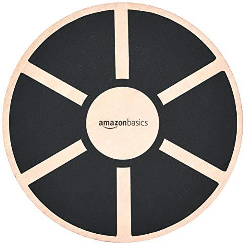 Amazon Basics, Balance board oscillante in legno, Nero