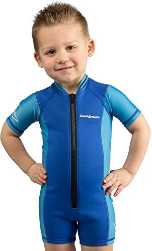 Cressi Shorty Kid - Muta Shorty per Bambini in Neoprene Ultra Stretch 1.5/2mm, Maniche Corte, XL (5/6 Anni), Blu/Azzurro