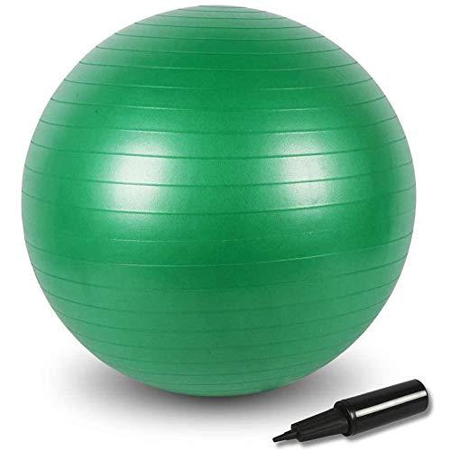 BIGTREE Palla Fitness Anti-Scoppio 55cm/65cm/75cm Palla da Ginnastica Fitness Yoga Core (Green, 55)
