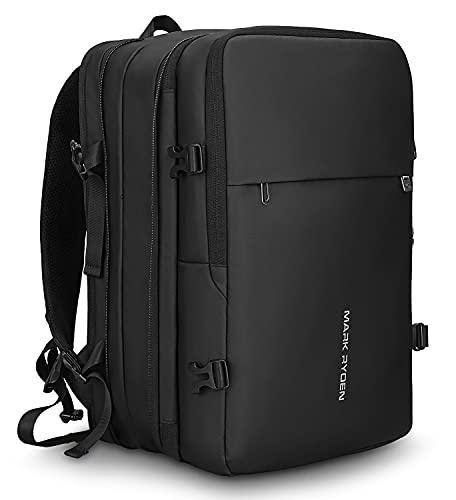 Zaino per laptop a prova di furto, zaino da lavoro, zaino da viaggio impermeabile, adatto per laptop da 15,6 pollici / 17 pollici per uomini e donne, con caricatore USB, nero