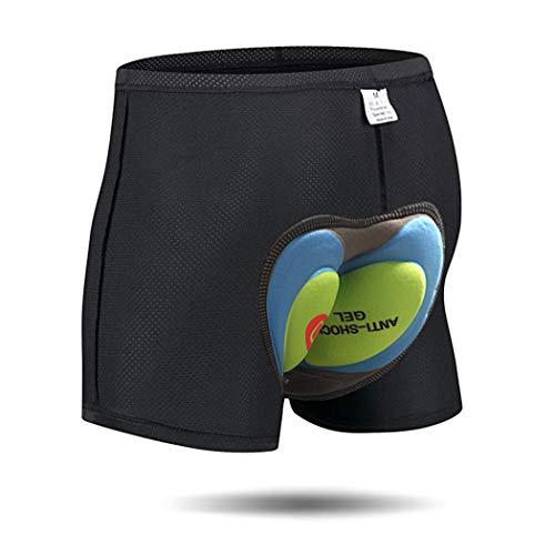 JEPOZRA Pantaloncini Corti da Bicicletta Bici da Ciclismo 4D Imbottitura Antibatterica in Gel di silice Ciclismo Cinture da Bicicletta Underwear MTB Bike Short Pants(Verde, M)