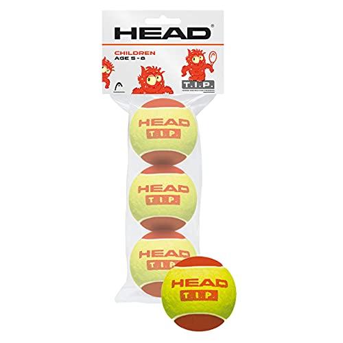 HEAD 3B T.I.P. Red, Palline Tennis Unisex-Youth, Giallo, Taglia Unica