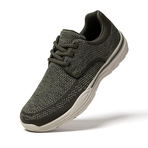 Uomo Scarpe da Ginnastica Sneakers Basse Scarpe Stringate Mocassini Scarpe Barca Casual Slip on Verde 45