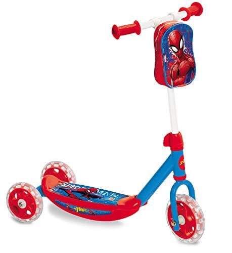 Mondo Toys - My First Scooter SPIDER-MAN ULTIMATE - Monopattino Baby bambino/bambina - 3 ruote - borsetta porta oggetti inclusa - 18273