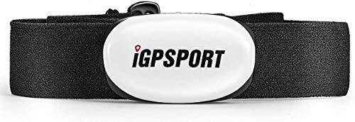 IGPSPORT HR40 Cardiofrequenzimetro Impermeabile IPX7 Bluetooth e Ant+ Fascia Toracica per Ciclismo, Corsa, Fitness e Compatibile con Garmin Polar Wahoo