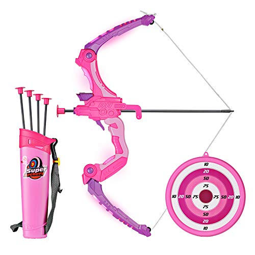 SainSmart Jr. Bogen Set Bambini – Giochi tiro con l' Arco con 5 Frecce, Regalo per Le Ragazze da 6 Anni, Pink
