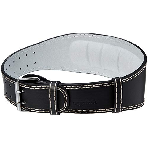 Amazon Basics - Cintura imbottita per sollevamento pesi, 10,1 cm di larghezza, XL
