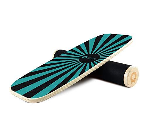 PowerBalance Roller Board - Pedana di Equilibrio in Legno per Il Rafforzamento e la Riabilitazione Mirati - Migliora Equilibrio, Coordinazione e Postura (Blueray)