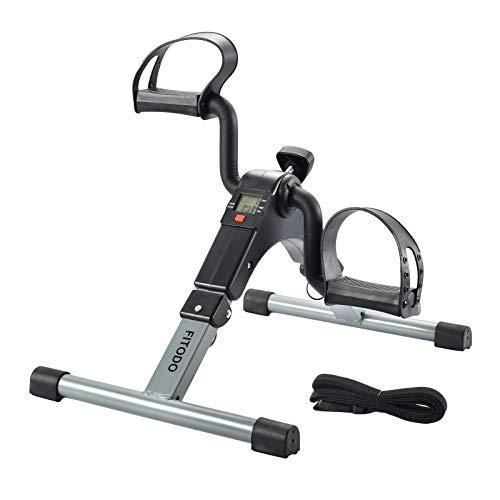 FITODO Mini Cyclette Pedale della Bici Mini Bike Esercizio Pedale con Monitor LCD per Il Recupero di Braccia e Gambe