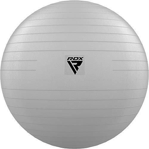 RDX Palla da Ginnastica Anti-Scoppio Extra Spessa Stabilità Fitness Ball, Yoga Pilates Allenamento Gravidanza Palla Svizzera con Pompa Rapida Esercizi Casa Ufficio Palestra Supporto 250kgs