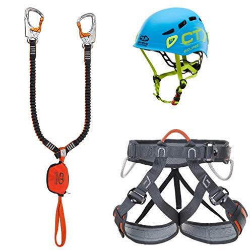 Climbing Technology Kit FERRATA Plus Eclipse, Set Unisex Adulto, Multicolore, Taglia Unica