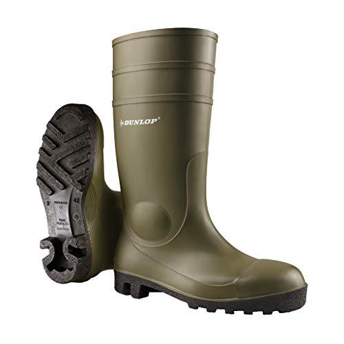 Dunlop Protective Footwear Protomastor Full Safety Unisex adulto Stivali di gomma, Verde 44 EU