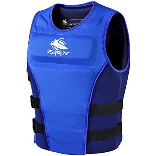 Zeraty Bambini Nuoto Vest Giacca da Nuoto Giubbotto di Galleggiamento Giacca Galleggiante Uomo Donna Neopreno Aiuti al Nuoto Costume da Bagno Canoa Kayak Jet Ski Windsurf Sci Nautico Azul