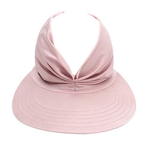UPF 50+ Cappello da Sole Anti UV Cappello Estivo Sole Visiera Estiva Donna Cappuccio di Protezione Parasole Vuoto Spiaggia Viaggi Escursionismo Cappello a Tesa Larga (G)