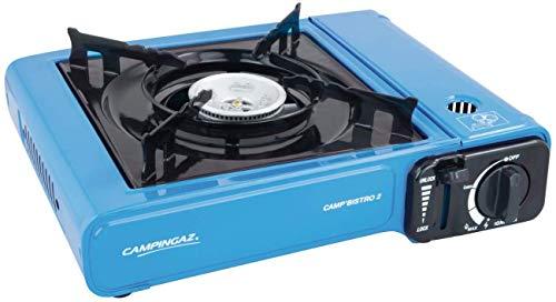 Campingaz Camp Bistro 2 - Fornello Gas Portatile per Campeggio/Feste, Blu