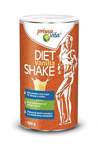 Primavita - Shake dietetico sostitutivo del pasto, gusto vaniglia, 500 g, 10 porzioni